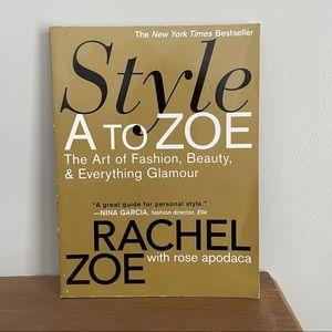 Style A To Zoe Book by Rachel Zoe